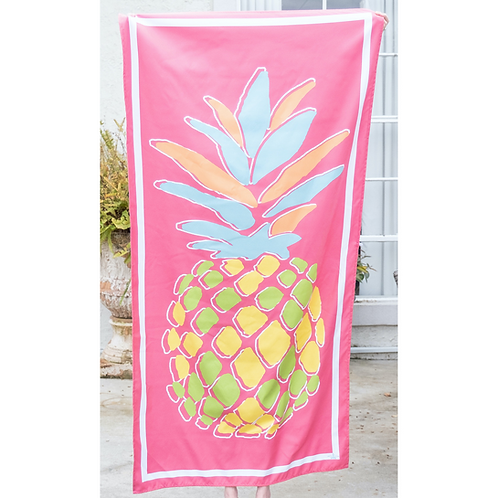 Pineapple Beach Towel in Pink/Yellow