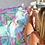 Thumbnail: Panama Beach Towel in Aruba Blue/Hot Pink