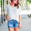 Thumbnail: Jenna Hi Lo Tunic in Ivory