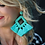 Thumbnail: Ellie Fringe Drop Earrings Turquoise