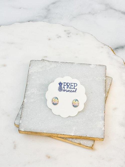 Egg Enamel Stud Earrings by Prep Obsessed