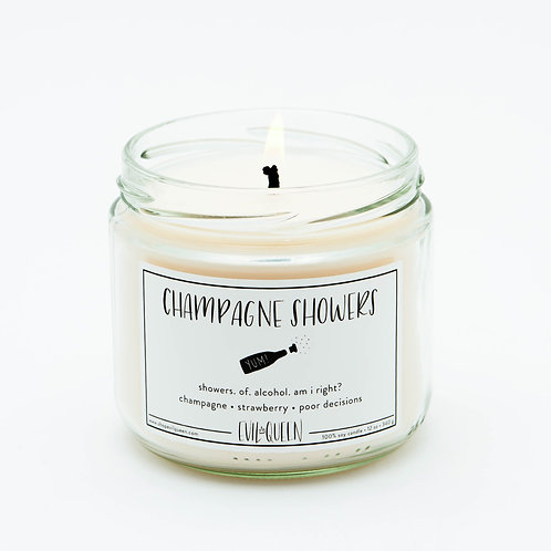 Champagne Showers 12 oz. Candle by Evil Queen