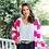 Thumbnail: Shae Striped Knit Cardigan
