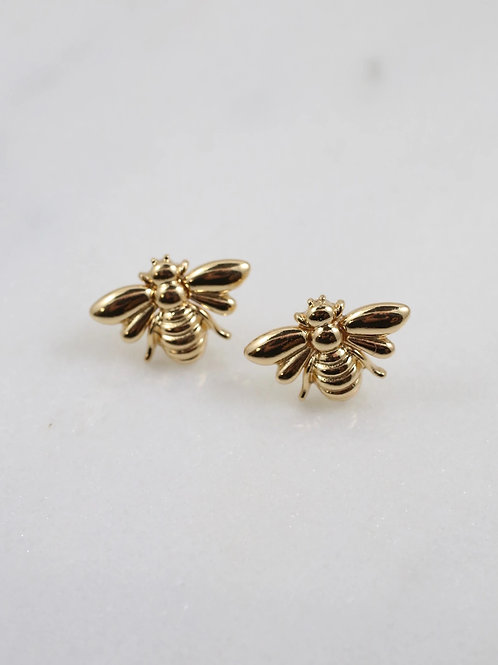 Buzzin Bee Stud Earring