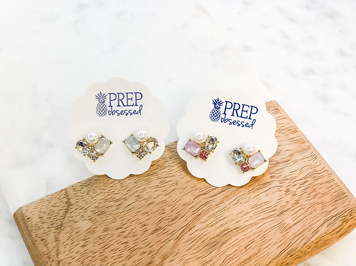 McKenna Cluster Studs by Prep Obsessed