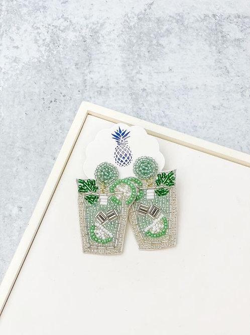 Mint Julep Beaded Dangle Earrings by Prep Obsessed