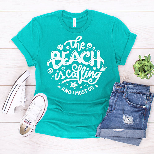 'The Beach is Calling' Tee by Prep Obsessed