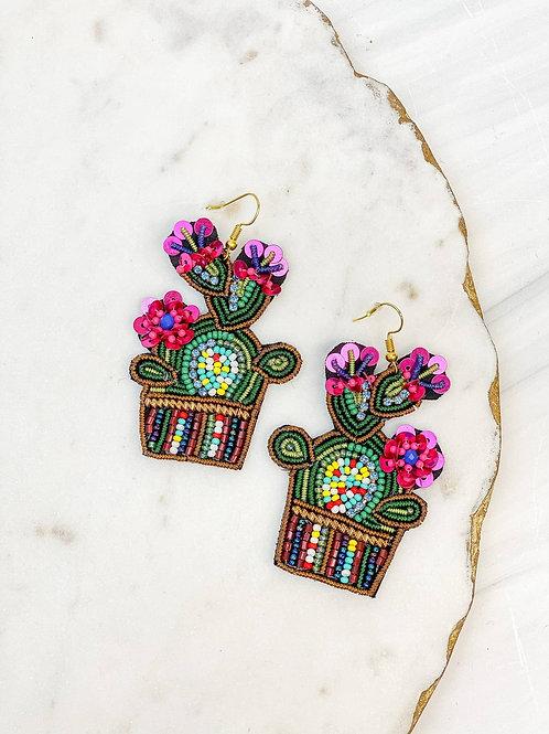 Cactus Seed Bead Dangle Earrings by Prep Obsessed