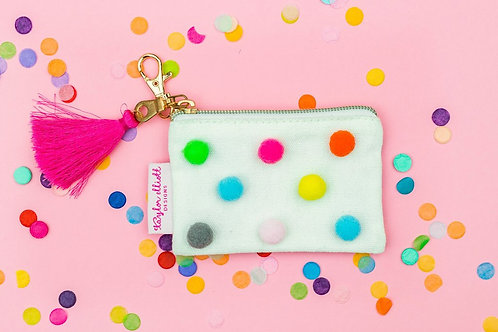 Mini Pom Pom Card Holder Keychain by Taylor Elliott Designs