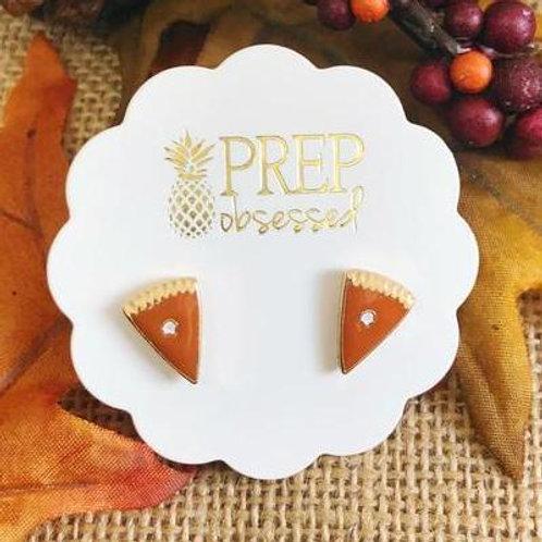 Pumpkin Pie Slice Signature Enamel Studs by Prep Obsessed