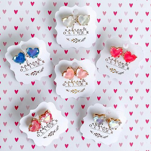 Heart Struck Stud Earrings