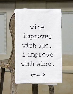 Wine Improves Dish Towel