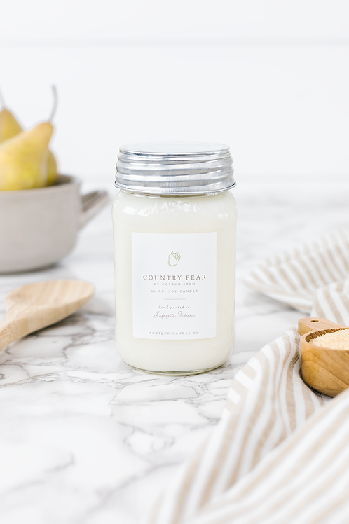 Country Pear 16 oz. Candle  by Antique Candle Co.