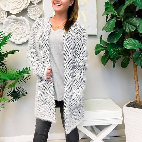 Cozy Geometric Cardigan by Prep Obsessed
