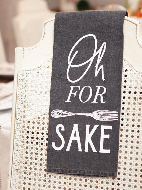 For Forks Sake Dish Towel