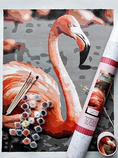 Frannie Flamingo Paint by Number Kit by Pink Picasso