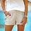 Thumbnail: VIP Status Sequin Drawstring Shorts in Champagne