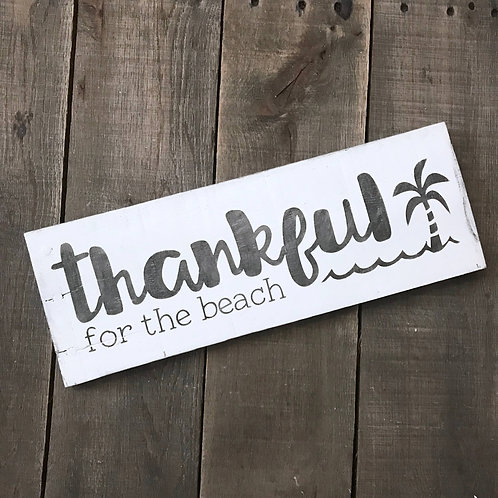 Thankful for the Beach Sign