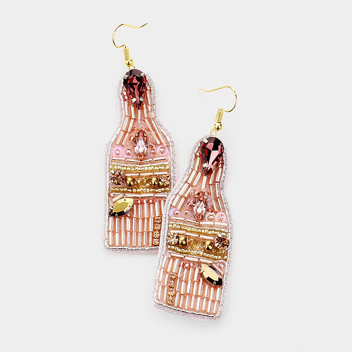 But First, Bubbly Champagne Earring Blush