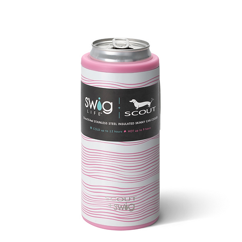 SCOUT+Swig Wavy Love Skinny Can Cooler (12oz)