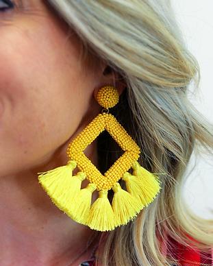 Ellie Fringe Drop Earrings yellow.png