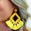 Thumbnail: Ellie Fringe Drop Earrings in Yellow