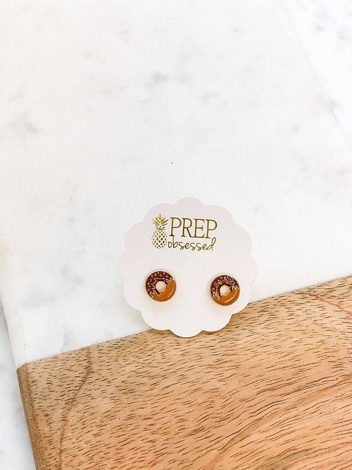 Donuts Signature Enamel Studs by Prep Obsessed
