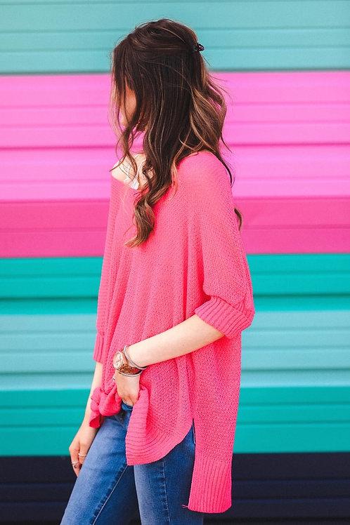 Jenna Hi Lo Tunic in Pink