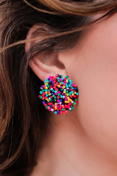 Feeling Festive Pom Earrings