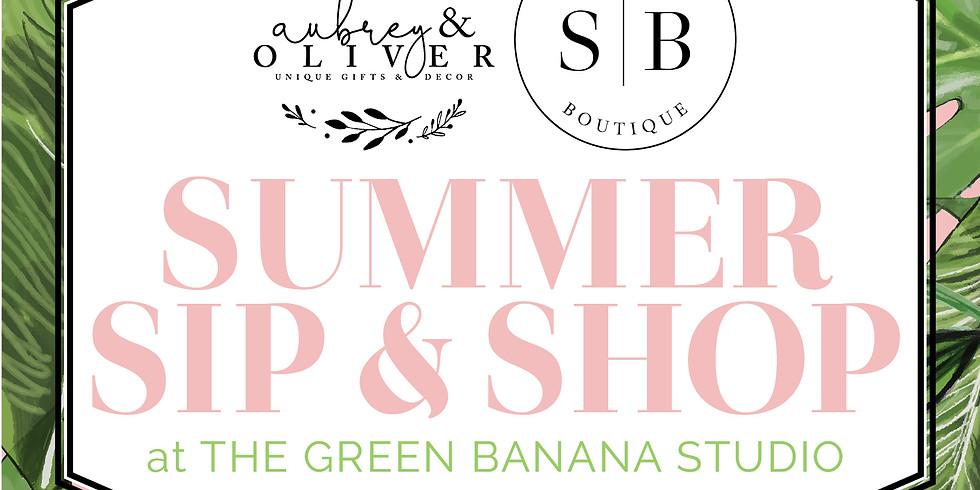 Summer Sip & Shop at the Green Banana Studio