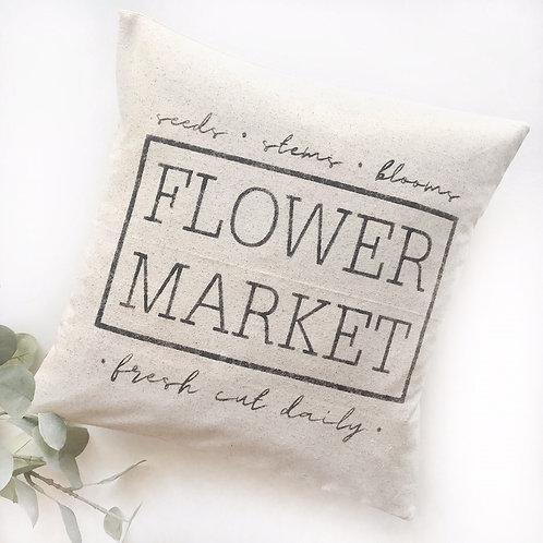 Flower Market Pillow Cover
