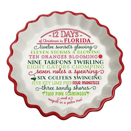 12 Day of Christmas in Florida Tart Dish