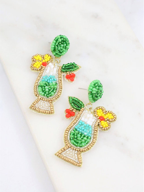 Colada Cocktail Embellished Earrings