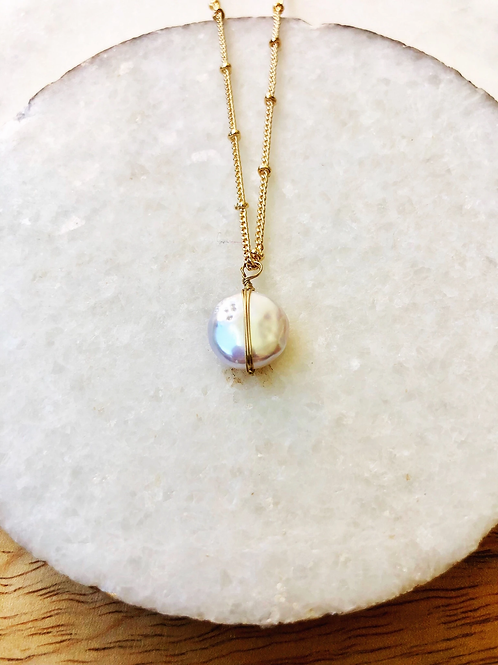 Dainty Pearl Necklace by Prep Obsessed