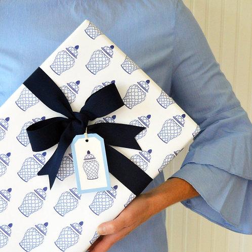 Geometric Ginger Jar Gift Wrap Sheets