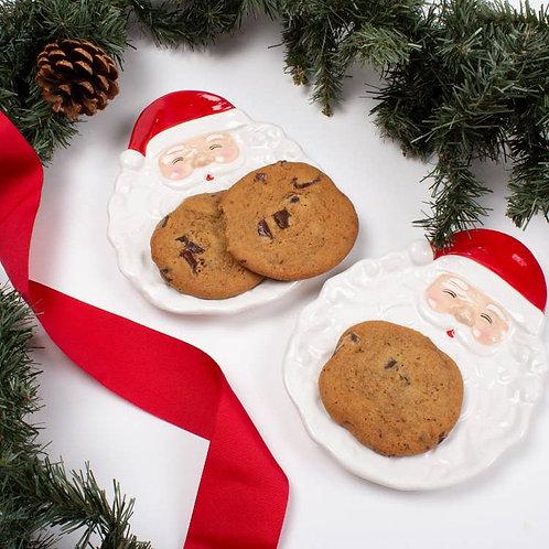 Santa Dessert Plates - Set of 4