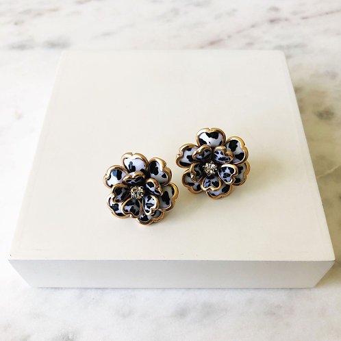 Madison Leopard Flower Stud Earring by Prep Obsessed