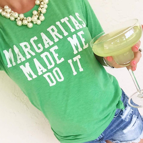 Margaritas Made Me Do It Tee by Prep Obsessed