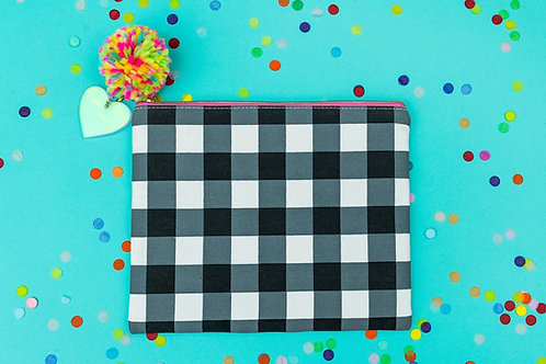 Black Gingham Pouch by Taylor Elliott Designs