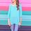Thumbnail: Jenna Hi Lo Tunic in Aqua