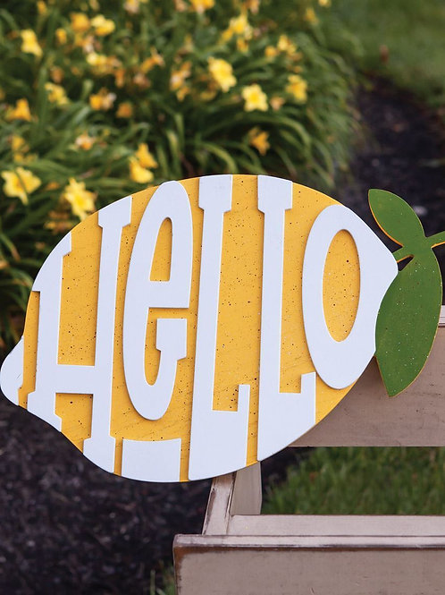Hello Lemon Sign