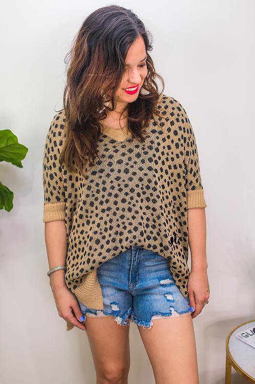 Jenna Hi Lo Tunic in Leopard