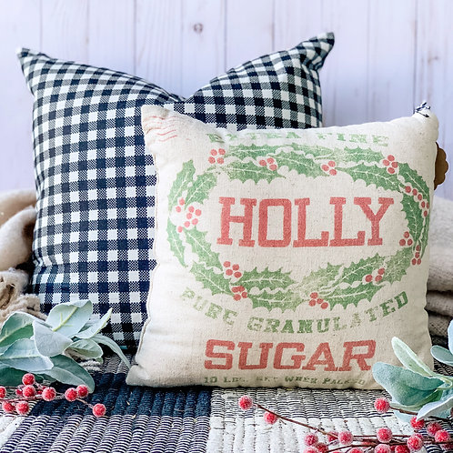 Holly Sugar Pillow