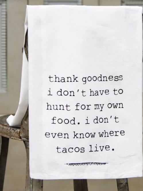 Tacos Dish Towel