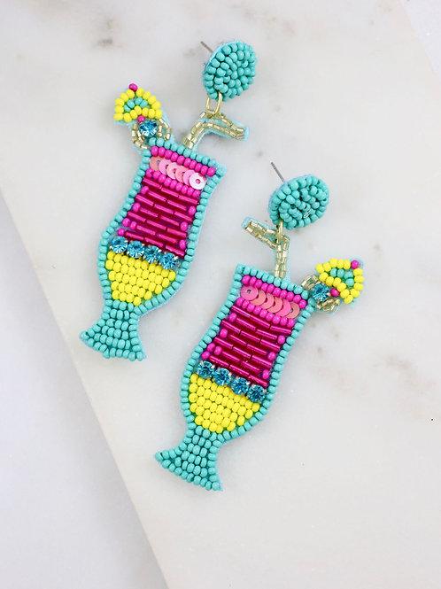 Daiquiri Cocktail Embellished Earrings