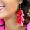 Thumbnail: Demi Tassel Earrings in Red/Pink