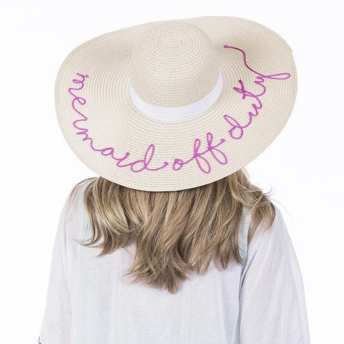 Mermaid Off Duty Sun Hat