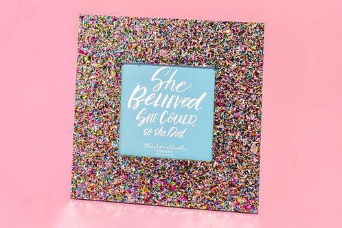 4x4 Confetti Acrylic Photo Frame by Taylor Elliott Designs