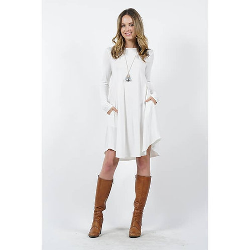 Ivory A-Line Swing Dress
