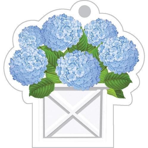 Blue Hydrangeas Planter Die-cut Gift Tags